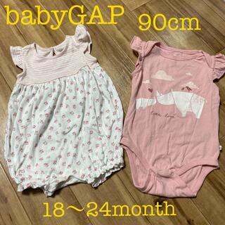 ベビーギャップ(babyGAP)のbabyGAP 90cm 女の子用ベビー服 2点(その他)