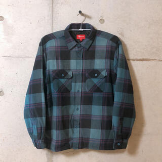 Supreme - Supreme Quilted Flannel Shirt