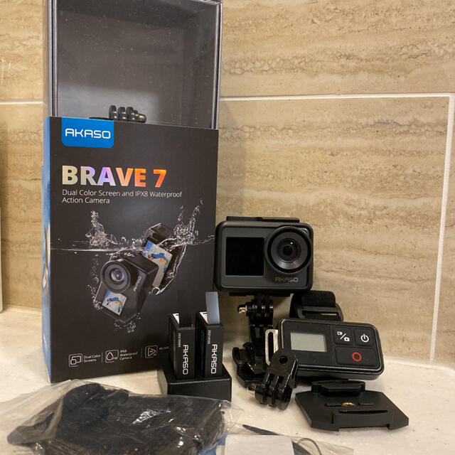 値下げしました‼️ほぼ未使用akaso brave 7 アクションカメラ‼️ スマホ/家電/カメラのカメラ(ビデオカメラ)の商品写真
