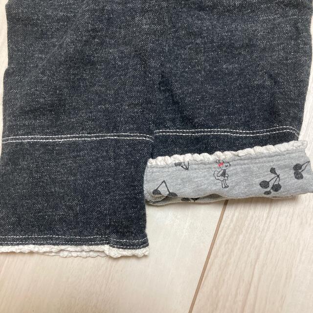 KP(ニットプランナー)のKP 綿(95%)ズボン ブラック キッズ/ベビー/マタニティのキッズ服女の子用(90cm~)(パンツ/スパッツ)の商品写真