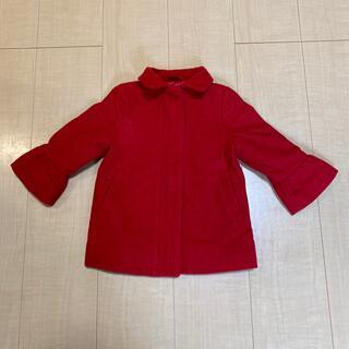 ベビーギャップ(babyGAP)の【baby GAP】赤色冬用コート 80サイズ(ジャケット/コート)