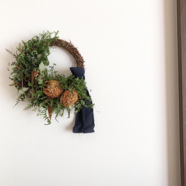 ドライフラワー✳︎リース✳︎ハロウィン ハンドメイドのフラワー/ガーデン(ドライフラワー)の商品写真