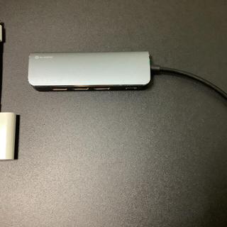 Apple - Apple USB 3カメラアダプタ , ELSONIC USBポートハブ