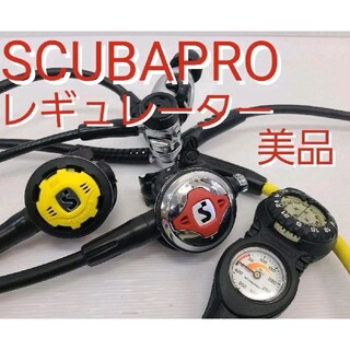 スキューバプロ(SCUBAPRO)の美品 スキューバプロレギュレーターSCUBAPRO MK25 ダイビング クロモ(マリン/スイミング)