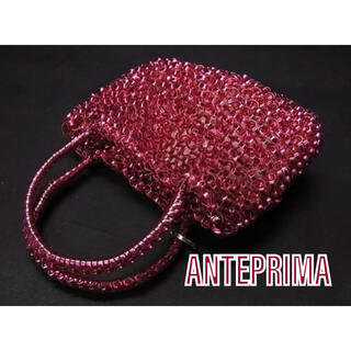 アンテプリマ(ANTEPRIMA)の【美品】ANTEPRIMA アンテプリマ ワイヤー ミニハンドバッグ ボルドー(ハンドバッグ)