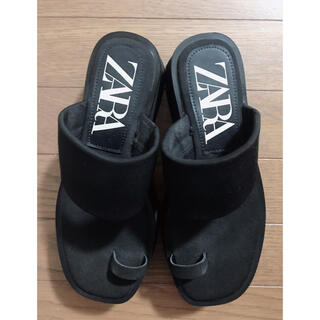 ZARA - ZARA プラットフォーム フラットサンダル