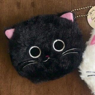 【先着1名様限定★新品未使用】ふわふわキャットポーチ黒猫