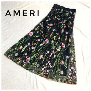 Ameri VINTAGE - 【美品】アメリヴィンテージ Ameri vintage 刺繍 花柄 スカート