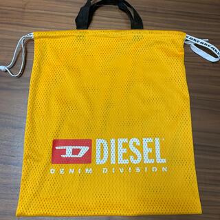 ディーゼル(DIESEL)のディーゼル メッシュバック フェイクレザーバック付き オレンジ ブラック(バッグパック/リュック)