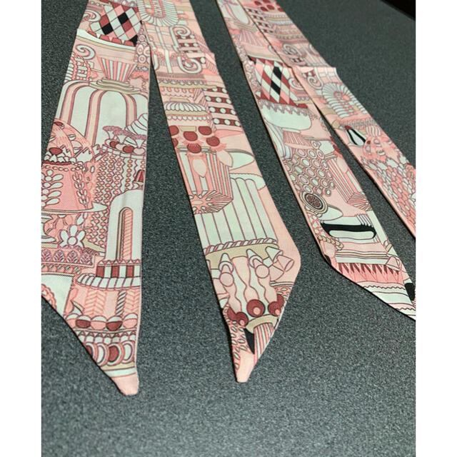 【新品】ツイリー バッグスカーフ 2枚セット デザイン レディースのファッション小物(バンダナ/スカーフ)の商品写真