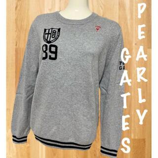PEARLY GATES - パーリーゲイツ 長袖  コットンニット セーター レディース ゴルフウェア