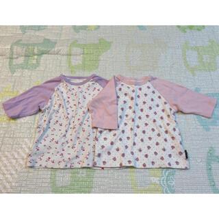 ベルメゾン - ベルメゾン 七分袖Tシャツ 2枚 80
