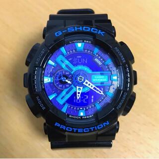CASIO - 【超美品】CASIO G-SHOCK  GA-110 ブルー反転液晶 稼働中