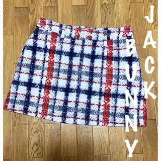 PEARLY GATES - 美品⛳️ジャックバニー チェック柄 ストレッチ起毛 中綿スカート 防寒スカート