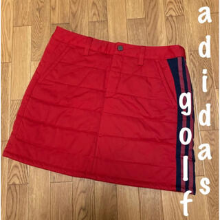 adidas - 美品⛳️アディダスゴルフ 3ストライプ 中綿スカート 防寒スカート レディース