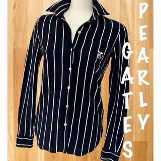 PEARLY GATES - 美品⛳️パーリーゲイツ ストライプ ボタンダウン 長袖シャツ レディース