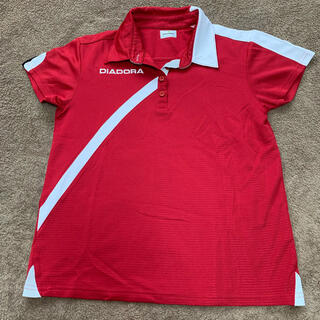 ディアドラ(DIADORA)の【お買得】 Lサイズ DIADORA   テニスウェア レディース ゲームシャツ(ウェア)