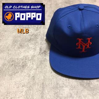 【デッドストック】MLB☆ニューヨーク・メッツスナップバックキャップ 80s