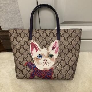 Gucci - GUCCIグッチ ヒグチユウコ 猫柄トートバッグ