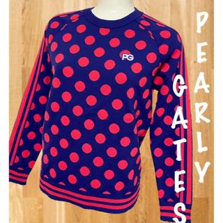 PEARLY GATES - 美品⛳️パーリーゲイツ サイドライン ドット柄 ニット セーター レディース