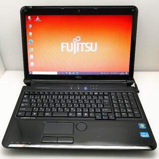 フジツウ(富士通)のキレイ 富士通 ノートパソコン 艶々ブラック WEBカメラ付大容量(ノートPC)