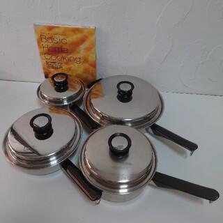 アムウェイ(Amway)のアムウェイ クイーン クックウェアセット 鍋4点セット 定番料理本付き(鍋/フライパン)