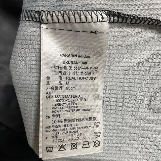 adidas(アディダス)のレアル・マドリード human race コラボユニ JAPAN Mサイズ スポーツ/アウトドアのサッカー/フットサル(ウェア)の商品写真