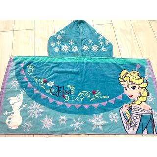 Disney - アナと雪の女王❤️ケープ風マントタオル❤️