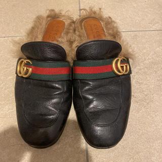 Gucci - グッチ ファーサンダル 26.5cm程度