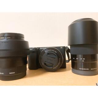 SONY - SONYα6400 ダブルズームレンズキット+SIGMA単焦点レンズとおまけ