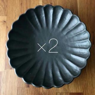 美濃焼 輪花 リンカ 菊型 大皿 盛り皿 2枚