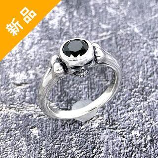 定価2.1万・新品★Justin Davis ジルコニア・スカルリング 指輪(リング(指輪))