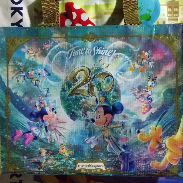 Disney(ディズニー)のディズニーシー⭐️20周年⭐️バッグ⭐️ミッキー⭐️ミニー⭐️ エンタメ/ホビーのおもちゃ/ぬいぐるみ(キャラクターグッズ)の商品写真