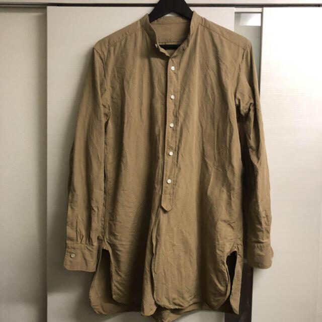 COMOLI(コモリ)のsus-sous シュス officer shirt 定価47,300円 美品 メンズのトップス(シャツ)の商品写真