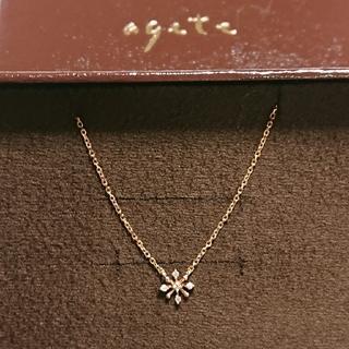 agete - アガット K10 ダイヤモンド ネックレス