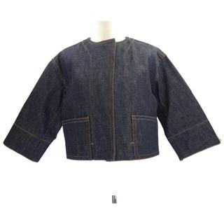 ドゥロワー(Drawer)の¥54,000 Drawerノーカラー ショート丈 ジャケット(ノーカラージャケット)