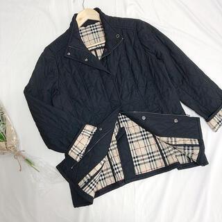 BURBERRY - BURBERRY LONDON キルティングジャケット ブラック サイズ46