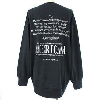 アメリカーナ(AMERICANA)のアメリカーナ 21AW 丸胴 ロングスリーブ Tシャツ バックロゴ スミクロ(Tシャツ(長袖/七分))