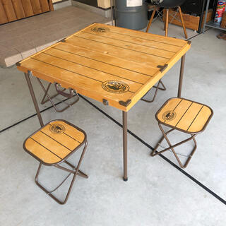 Y.M.O ヴィンテージ ウッド フォールディング テーブル チェア セット