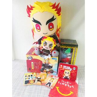 SEGA - 鬼滅の刃 煉獄杏寿郎グッズ フィギュアぬいぐるみプロジェクターキーホルダーシール