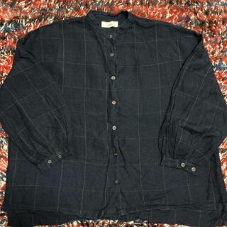 サンバレー(SUNVALLEY)の美品 ツクロイリネンスタンドシャツ(シャツ/ブラウス(長袖/七分))