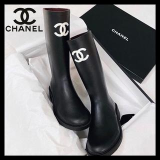 シャネル(CHANEL)の国内完売 新品 新作 シャネル CHANEL レインブーツ ブラック サイズ40(レインブーツ/長靴)