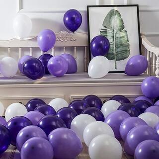 風船 バルーン パーティー 誕生日 飾り付け パープル (15個入り)(ウェルカムボード)