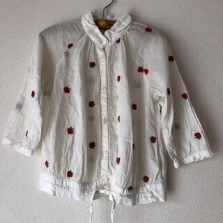 ゴートゥーハリウッド(GO TO HOLLYWOOD)の美品ゴートゥーハリウッド苺刺繍ブラウス100(ブラウス)