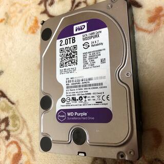 中古 WD Purple WD20PURX 2TB HDD