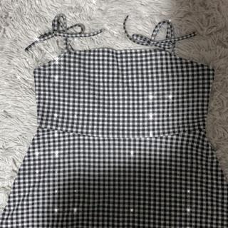 エイチアンドエム(H&M)のH&M ギンガムチェック リボン ワンピース(ひざ丈ワンピース)