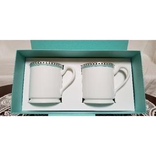 Tiffany & Co. - adg様 ティファニーマグカップ プラチナブルーバンド 新品未使用