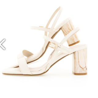 RANDA - RANDA デザインヒールスクエアトゥサンダル ランダ 靴 Lサイズ
