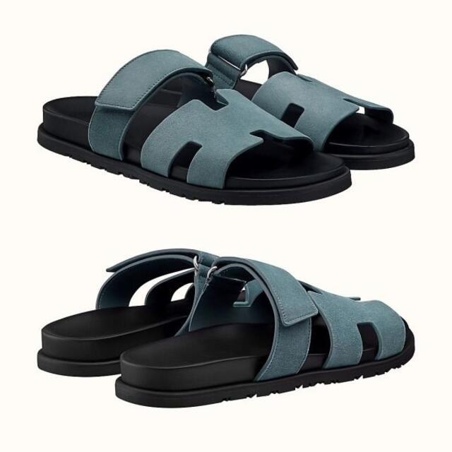 Hermes(エルメス)の【国内正規】HERMES エルメス シプレ サンダル Gris Pirit 43 メンズの靴/シューズ(サンダル)の商品写真