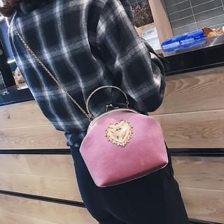 【個性的☆ピンク×ゴールド♪】ガマ口バッグ  チェーンバッグ ショルダー